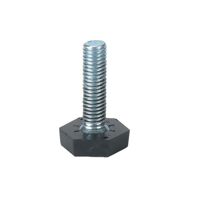 Vérin réglable pour tube 25 x 25 mm et 30 x 30 mm