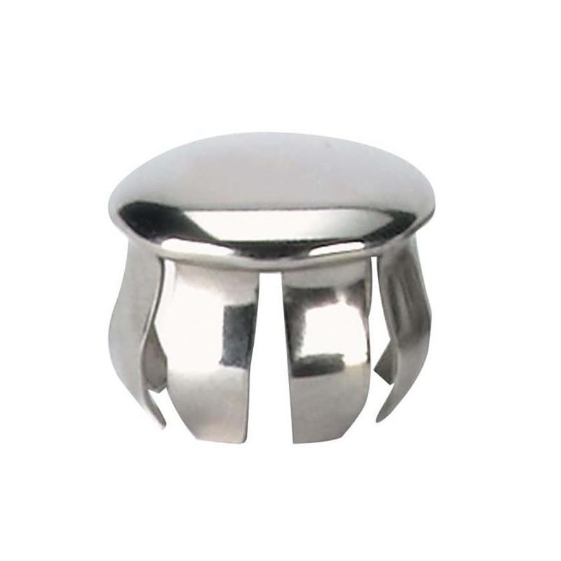 Obturateur nickel pour tube diamètre 25 mm.