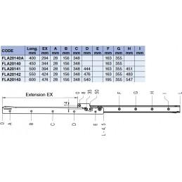 Coulisses de tiroir extension simple 40 kg tableau des différents modèles de coulisse de tiroirs
