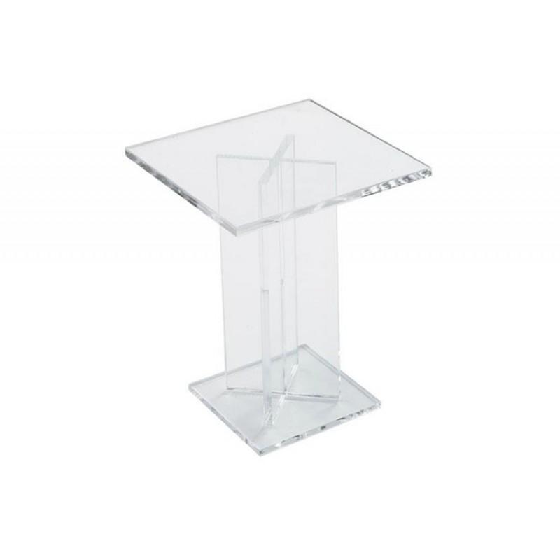 Pied de présentation carré 120 mm pour buffet