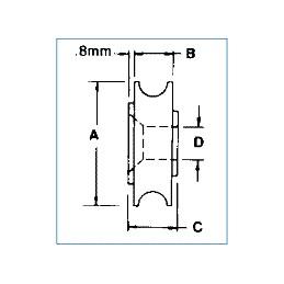Roulement à billes concave diamètre 30 mm : dimensions