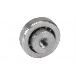 Roulement à billes avec trou fileté inox diamètre 22 x 6.3 mm