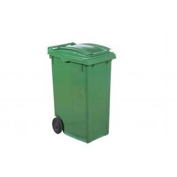 Conteneur à déchets 360 litres vert sur roues