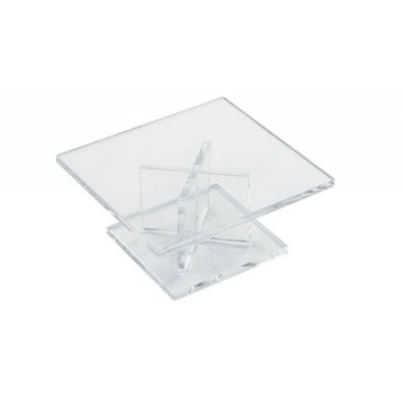 Pied de présentation carré hauteur 50 mm pour buffet