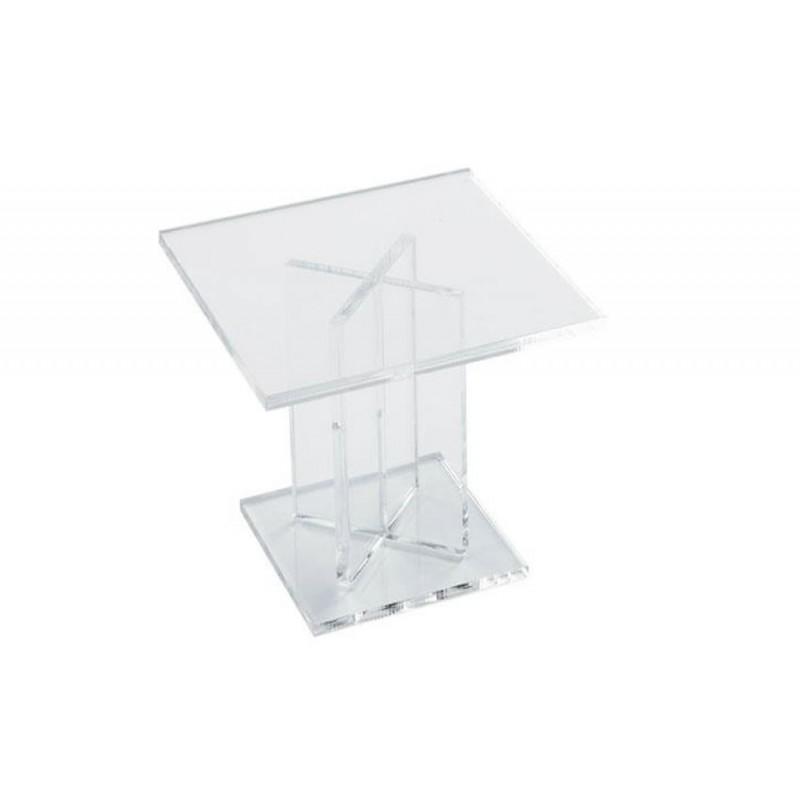 Pied de présentation carré hauteur 100 mm pour buffet