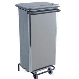 Conteneur à déchets inox 110 litres à pédale