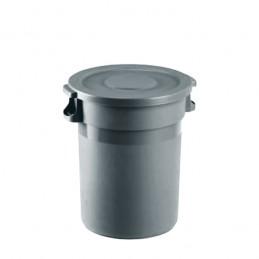 Conteneur à déchet 80 litres avec couvercle plat