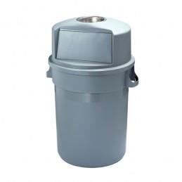 Conteneur à trappe PUSH avec cendrier 120 litres