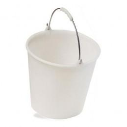 Seau 12 litres avec anse zinguée et poignée enrobée