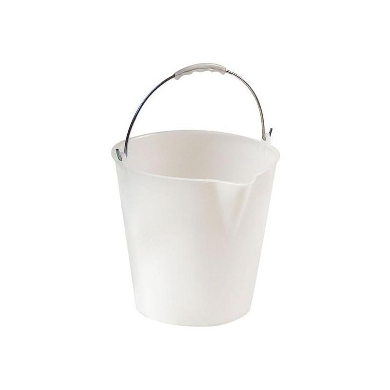 Seau 12 litres avec anse zinguée bec verseur