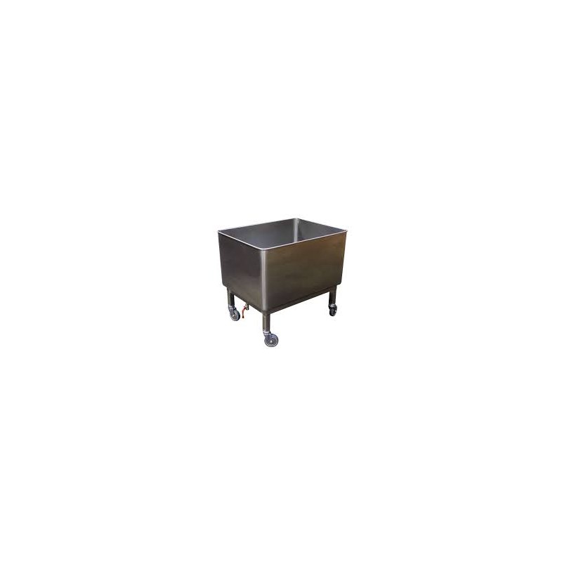 Cuve roulante inox alimentaire 200 litres