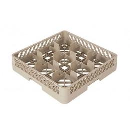 Casier lave-vaisselle pour verres hauteur 100 mm à 9 compartiments.