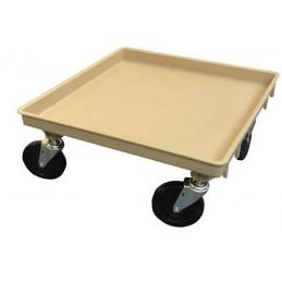Chariot de transport pour casiers lave-vaisselle sans poignée