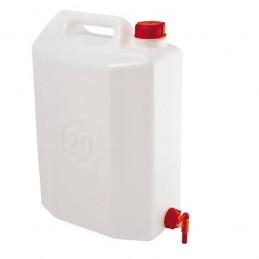 Jerrycan 20 litres alimentaire avec robinet de vidange