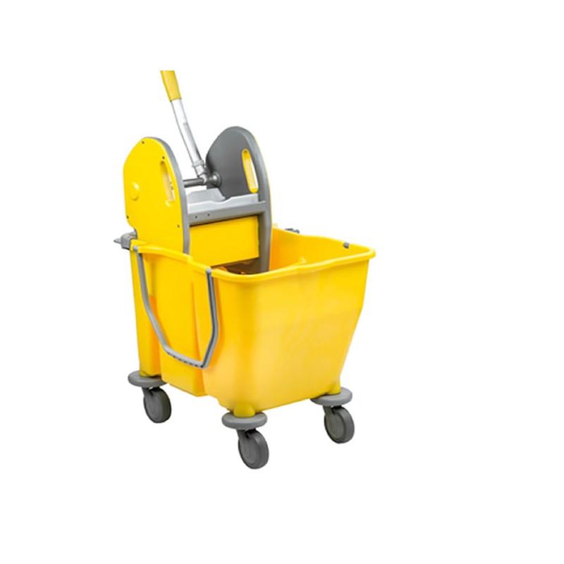 Chariot de nettoyage à 2 seaux 15 litres avec presse
