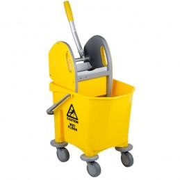 Chariot de nettoyage 1 seau 25 litres avec presse