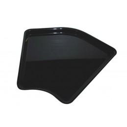 Plat angle arrondi 280 hauteur 20 mm pour vitrine