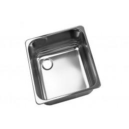 Cuve inox carrée à encastrer avec trop-plein gauche