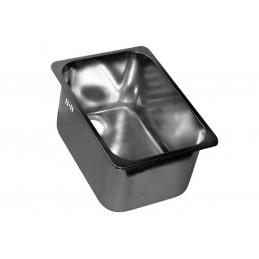 Cuve inox rectangulaire à encastrer avec trop-plein gauche