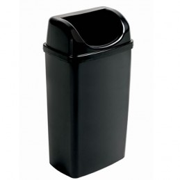 Poubelle couvercle dissimulant 50 litres gamme BLACK