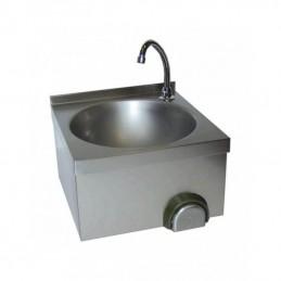 Lave-mains inox cuve ronde