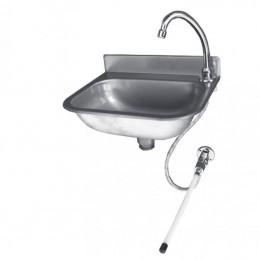 Lave-mains éco inox dosseret hauteur 50 mm