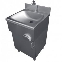 Lave-mains inox sur placard porte battante