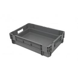 Bac euronorm gris 600 x 400 mm plein - 26 litres