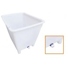 Bac alimentaire 210 litres sur pieds avec vidange