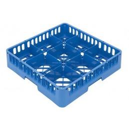 Casier lave-vaisselle pour verres à 9 cases 150x150 mm.