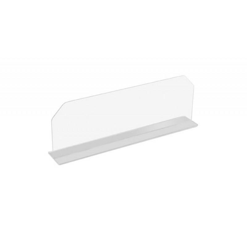 Séparation 600 mm en plexi transparent pour vitrine