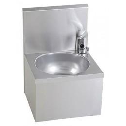 Lave-mains inox avec robinet électronique.