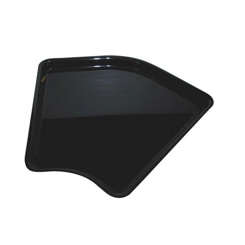 Plat de présentation plexi angle arrondi pour vitrine 280 mm hauteur 20 mm