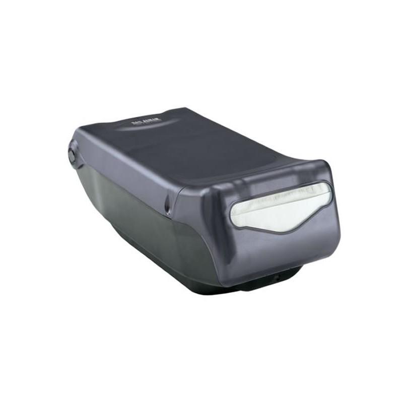 Distributeur de serviettes de table à pli mini noir transparent