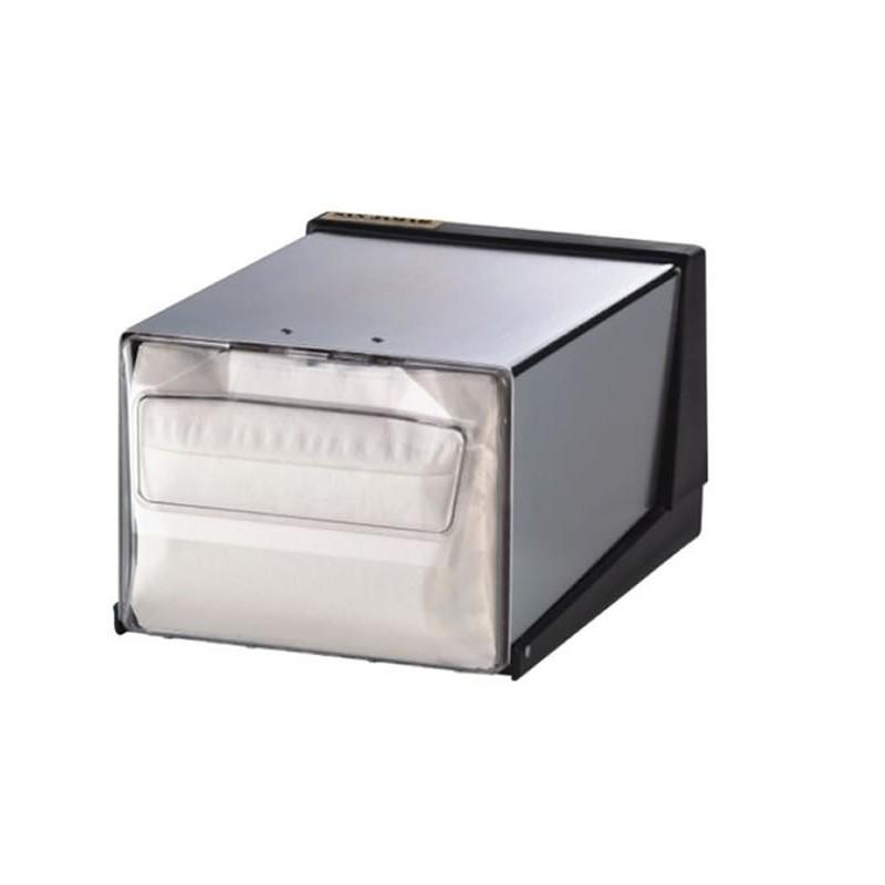 Distributeur de serviettes de table à pli entier couleur chrome