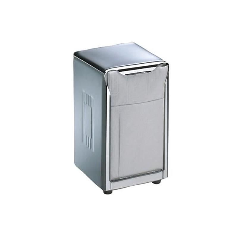 Distributeur de serviettes de table à pli bas chrome