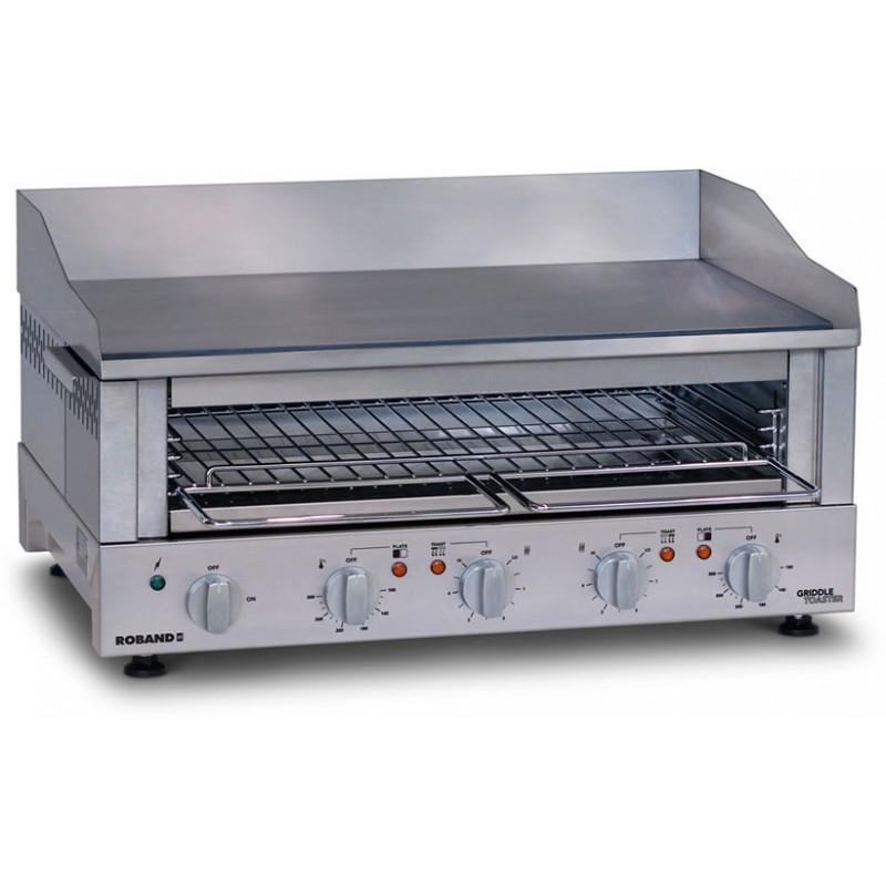 Grille-pain professionnel avec plaque de cuisson 700 x 400 mm