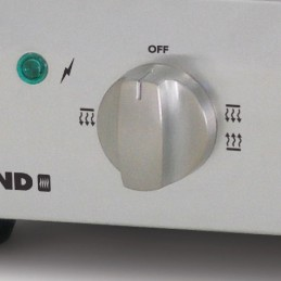 Grille-pain max avec minuterie : bouton de sélection de la chaleur.