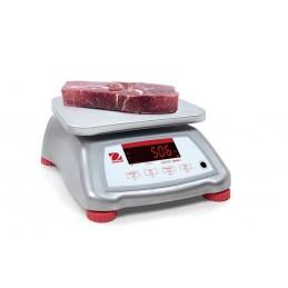 Balance TOUT INOX 3 à 15 kg alimentaire plateau 242x190 mm. Mise en situation
