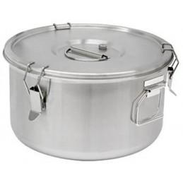 Conteneur à soupe 10 litres avec poignées latérales.