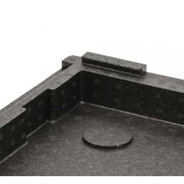 Conteneur isotherme pour pizza : détail d'un coin du conteneur isotherme
