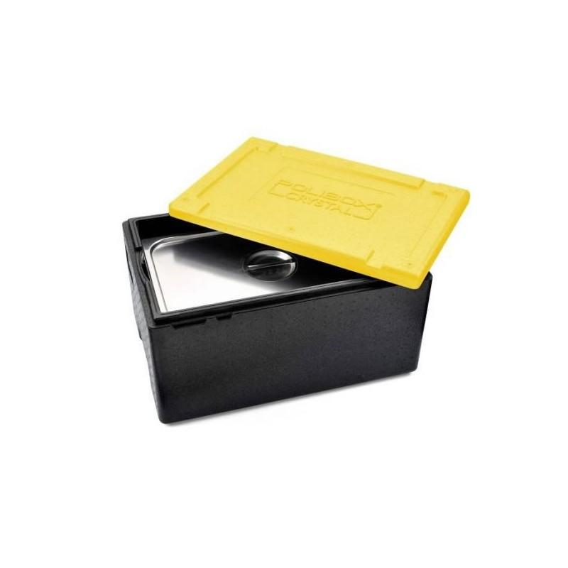 Conteneur Polibox GN1/1 avec couvercle couleur jaune