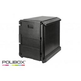 Conteneur isotherme 720x600 avec ouverture frontale pour bacs