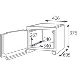 Conteneur isotherme 49 litres avec ouverture frontale : dimensions