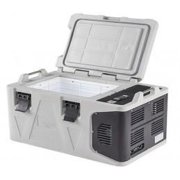 Conteneur réfrigéré 53 litres ouverture par le dessus avec porte ouverte.