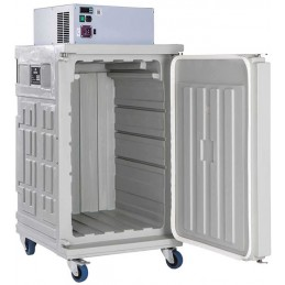 Conteneur réfrigéré 370 litres statique ouverture par devant ouvert