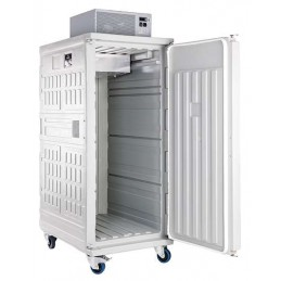 Conteneur réfrigéré 830 litres ventilé ouverture par devant porte ouverte