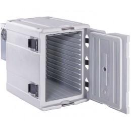 Conteneur de refroidissement 90 litres ouverture avant porte ouverte.
