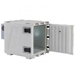 Conteneur de refroidissement 148 litres statique ouverture avant, porte ouverte.