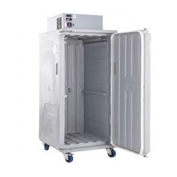 Conteneur de refroidissement 488 litres ventilé ouverture avant porte ouverte.